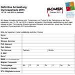 Anmeldung zur Teilnahme an der Gymnaestrada 2015